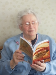 Grandma reading You Can Eat This